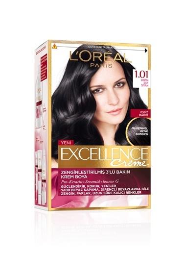 L'Oréal Paris Excellence Creme Saç Boyası 1.01 Derin Saf Siyah Renkli